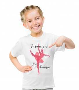 T-shirt Enfant Je peux pas j'ai danse classique