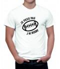 T-shirt homme Je peux pas j'ai rugby