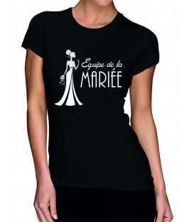 T-shirt femme EVJF Team Mariée