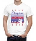 T-shirt homme 1998 2018 CHAMPION DU MONDE