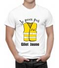 T-shirt homme JE PEUX PAS j'ai gilet jaune