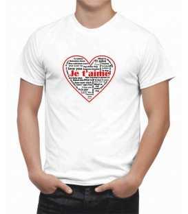 T-shirt homme Je t'aime toutes les langues