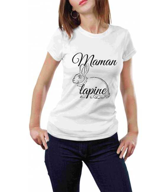 T-shirt femme maman lapine