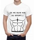 T-shirt homme Je me suis mis au sport