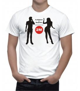 T-shirt Homme distance à Respecter