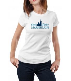 T-shirt femme fière d'etre marseillaise