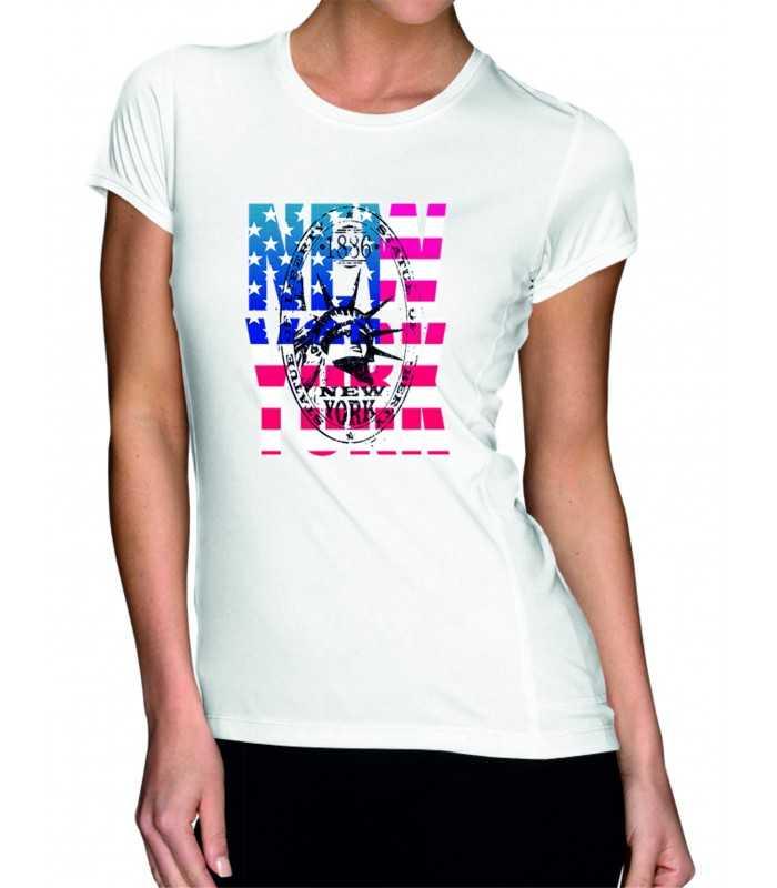 T-shirt femme imprimé Amérique