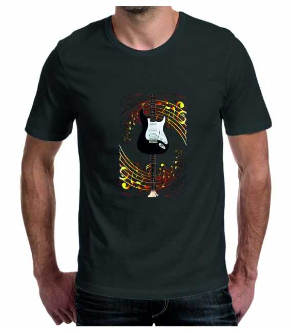 T-shirt homme guitare Gino