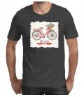 T-shirt homme imprimé Bicicletta