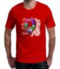 T-shirt homme Casque Ecouteur Multicolore