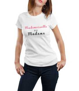 T-shirt femme mademoiselle pas madame