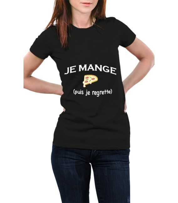 T-shirt femme Je mange puis je regrette