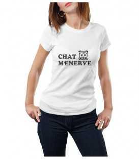 T-shirt femme chat m'énerve