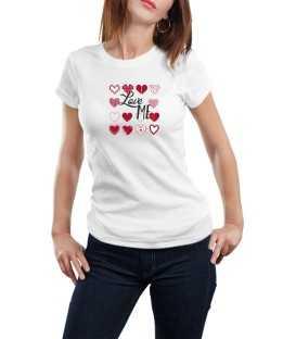 T-shirt femme modèle Love Me