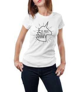 T-shirt femme je peux pas j'ai poney licorne