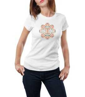 T-shirt femme flower power