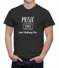 T-shirt homme music and cassette