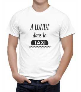 T-shirt homme A Lundi dans le Taxi