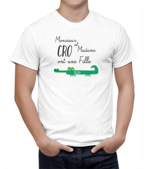 T-shirt homme Monsieur et Madame CrocOdile