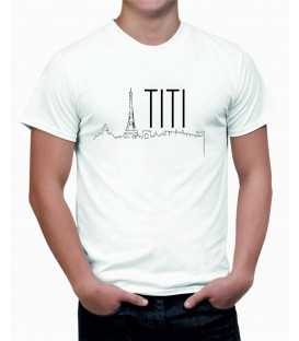 T-shirt homme Titi Parisien Silhouette Paris