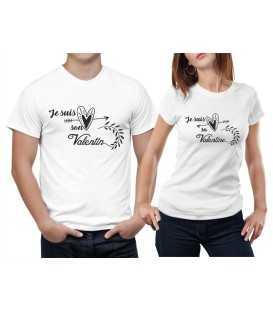 T-shirt Couple Son Valentin Sa Valentine Vintage