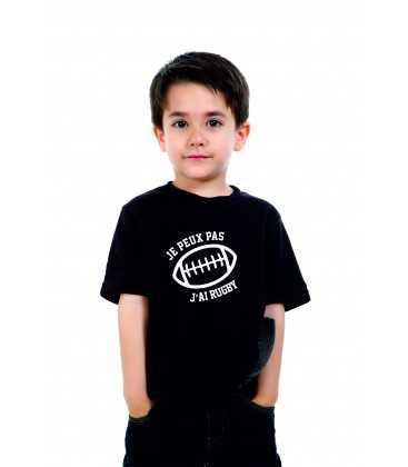 T-shirt Enfant Je peux pas j'ai rugby