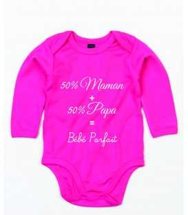 Body bébé parfait 50 % Maman 50% Papa