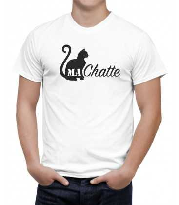 T-shirt homme MA CHATTE