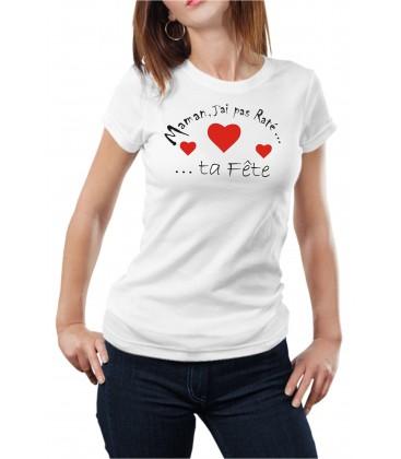 T-shirt femme fête maman