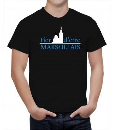 T-shirt Homme FIER D'ETRE MARSEILLAIS