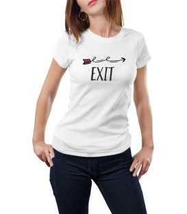 T-shirt femme modèle Exit