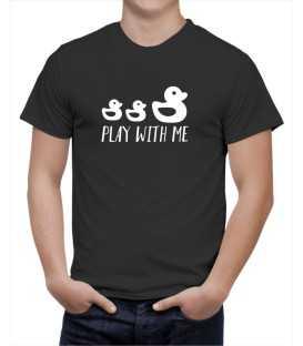 T-shirt homme modèle canard de bain