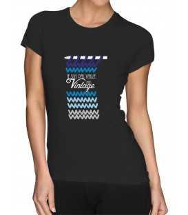 T-shirt femme tricot je suis pas vieille mais vintage