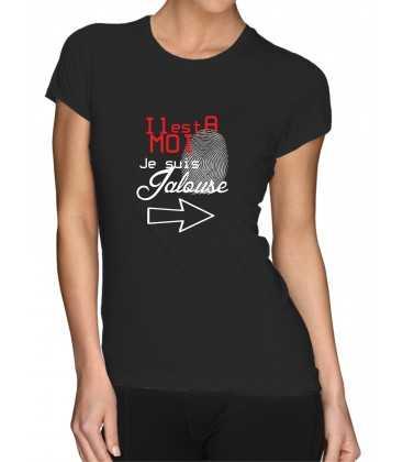 T-shirt femme il est à moi je suis jalouse couple