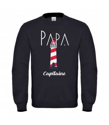 Sweat homme Papa Capitaine