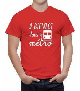T-shirt homme A bientôt dans le métro