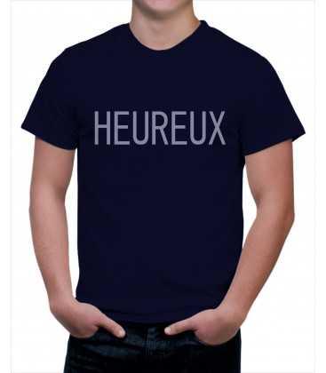 T-shirt homme heureux
