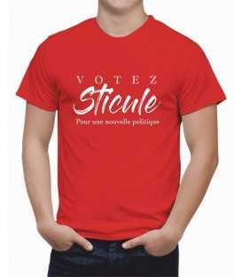 T-shirt homme Spécial Election Votez Sticule