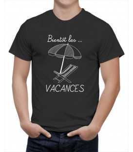 T-shirt homme Bientôt les vacances - Transat