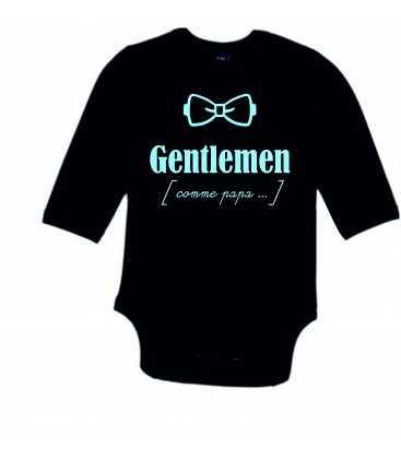 Body Bébé Noeud Pap slogan Gentlemen comme papa